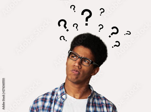 Confused Afro Guy Has Too Many Questions Canvas Print