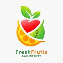 Logo Design Of Organic Fresh F...