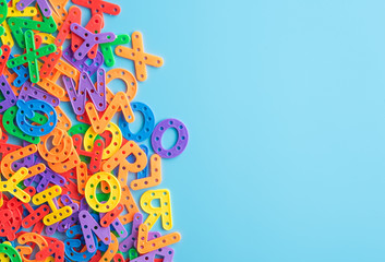 Colorful plastic alphabet l...