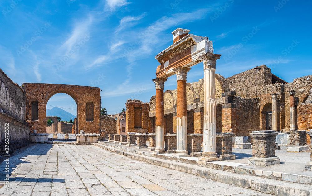 Fototapety, obrazy: Ancient ruins of Pompei city (Scavi di Pompei), Naples, Italy