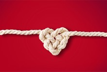 White Rope In Heart Shape Knot...