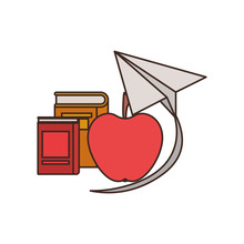 Apple Fruit Of Color Red Isolated Icon