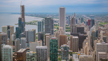 High Rise Buildings Of Chicago - Aerial View - Travel Photography