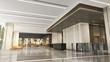 3D rendering of modern office lobby