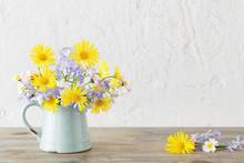 Spring Flowers In Vintage Jug ...