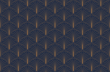 Elegant art nouveau seamless pattern. Abstract minimalist background. Geometric art deco texture.