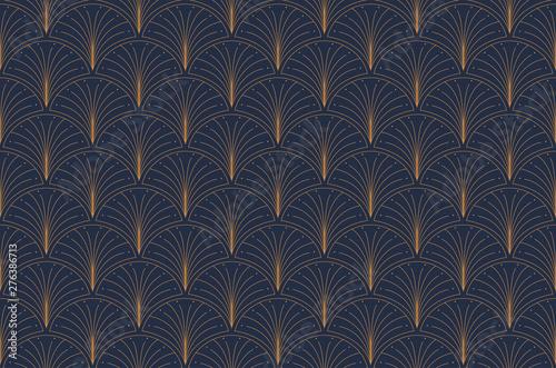Obraz Elegant art nouveau seamless pattern. Abstract minimalist background. Geometric art deco texture. - fototapety do salonu