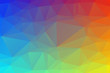 Light colorful Low poly crystal background. Polygon design pattern. Low poly vector illustration, low polygon background.