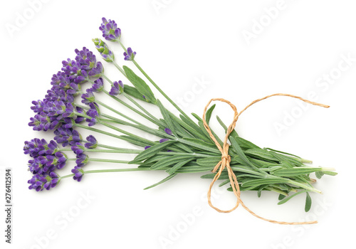 Lavender Flowers Bunch Isolated On White Background - 276412594
