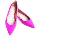 Pink Women Pointed Toe Shoes O...