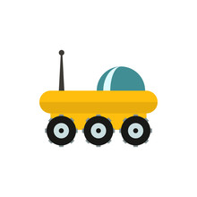 Planet Rover Flat Vector Icon