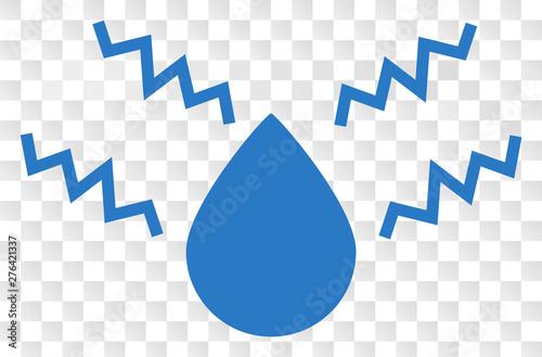 Fototapeta  Acid drop EPS vector pictograph