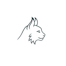 Lynx Minimalistic Linear Logo Isolated