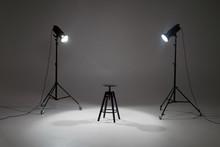 Ready Photo Shoot Setup In Whi...