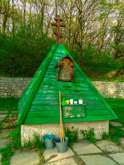 holy spring in the Russian village