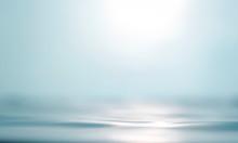 Blurred Beach With Bokeh Sunli...