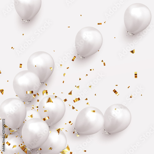 Festive background with helium balloons Canvas Print