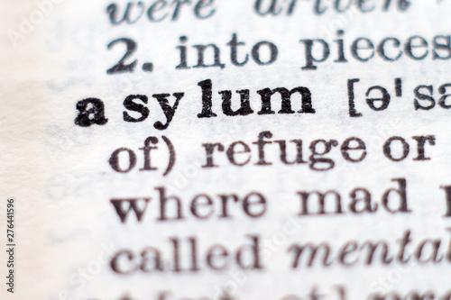 Photo Definition of word asylum
