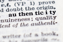 Definition Of Word Authenticity