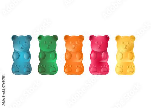 Photo colorful gummy bears illustration vector