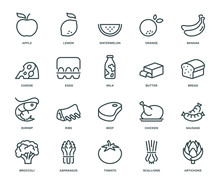 Food Icons,  Monoline Concept
