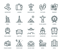 Travel And Holidays Icons,  Mo...