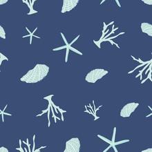 Corals And Starfish Seamless P...
