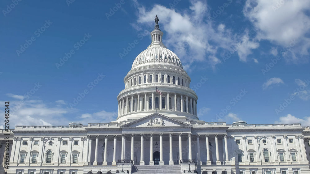 Fototapety, obrazy: close up of east side of the us capitol building in washington dc