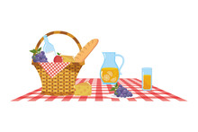 Isolated Picnic Basket Design ...