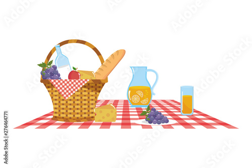 Foto Isolated picnic basket design vector illustrator