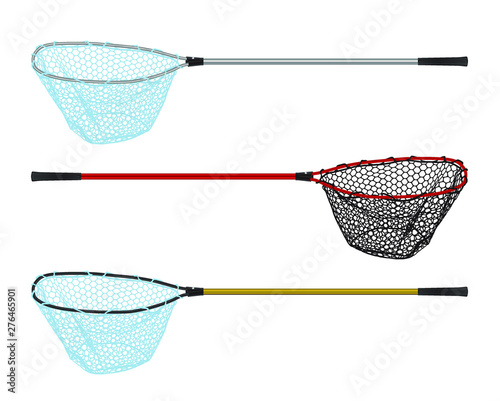 Fishing landing net simple icon vector set Fototapet
