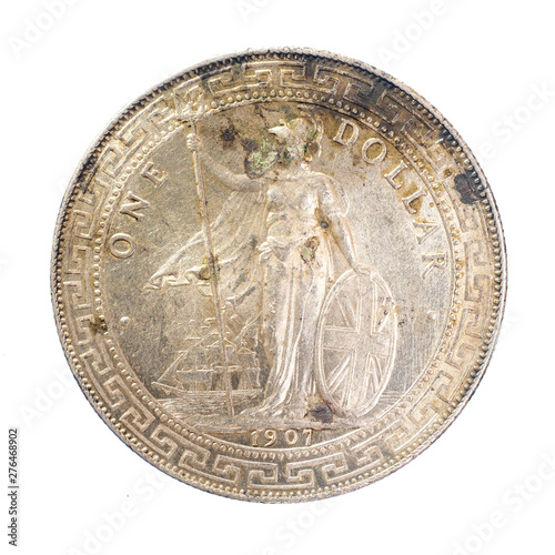 Photo  1907 United Kingdom (UK) 1 Dollar British Trade Dollar