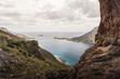 Landscape view of the Aegean Sea in Kalymnos, Greece.