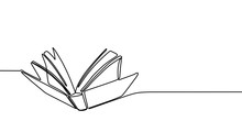 Book One Line Drawing Banner. ...