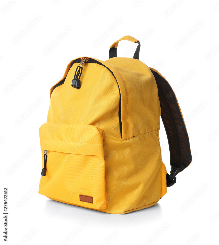Fototapety, obrazy: School backpack on white background