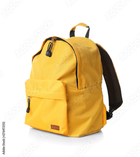 School backpack on white background Wallpaper Mural