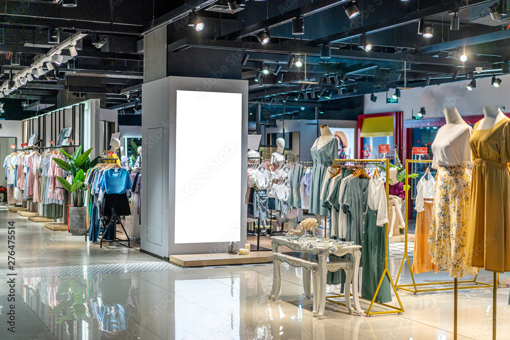 Fototapety, obrazy: clothes in shopping mall