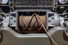 Rusty Galvanized Tow Cable On ...