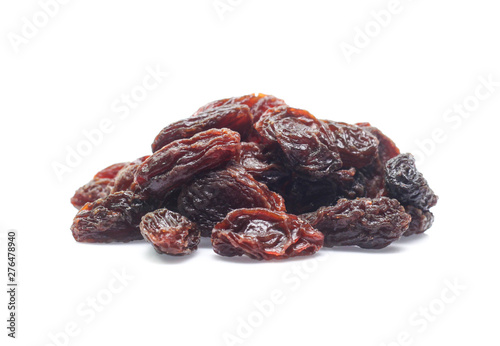 Fotografia  Organic dried Raisins isolated on white background