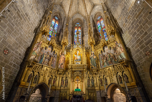 Fototapeta  Gothic altarpiece of the church of San Saturnino, Pamplona, Spain