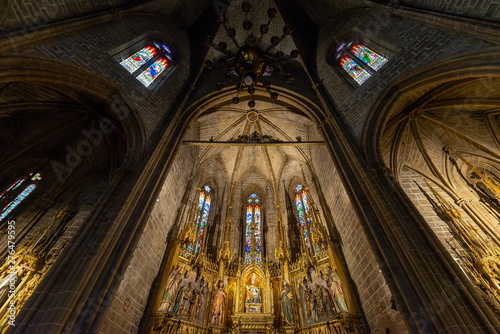 Fotografie, Obraz  Gothic altarpiece of the church of San Saturnino, Pamplona, Spain