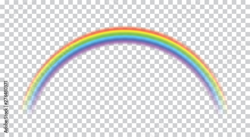Fototapeta Rainbow icon realistic. Perfect icon isolated on transparent background - stock vector. obraz