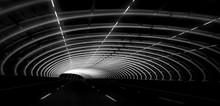 Sound Tube Bridge In Monochrome