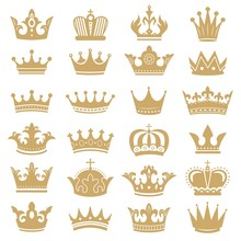 Gold Crown Silhouette. Royal C...