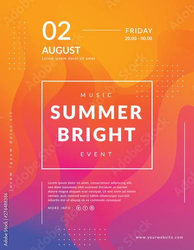 Fotografie, Obraz  Summer poster event template