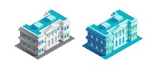 Government Building. Isometric...