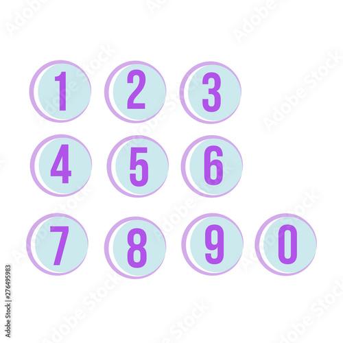 Fotografía  numbers set