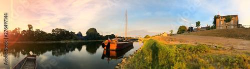 Fotografie, Obraz Gabare sur la Loire à Chalonnes sur Loire