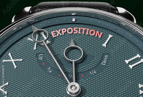 Fotografie, Obraz  Achieve Exposition, come close to Exposition or make it nearer or reach sooner - a watch symbolizing short time between now and Exposition