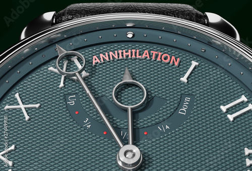 Achieve Annihilation, come close to Annihilation or make it nearer or reach sooner - a watch symbolizing short time between now and Annihilation Canvas Print